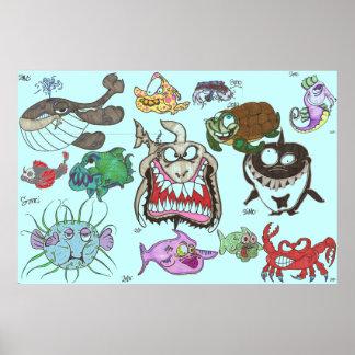 13 criaturas del mar póster