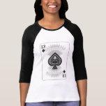 13 de espadas: Naipe: Póker Black Jack Camisetas