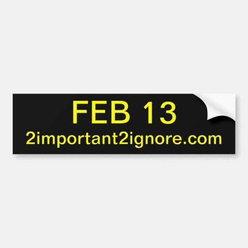 13 de febrero pegatina para el parachoques pegatina de parachoque