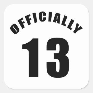 13 diseñe oficialmente pegatina cuadrada