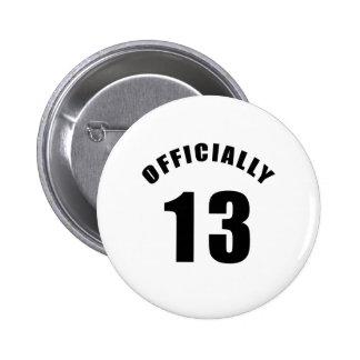 13 diseñe oficialmente pin redondo de 2 pulgadas