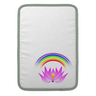 """13"""" diseño de Lotus del arco iris de las mangas de Fundas Macbook Air"""