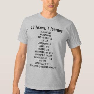 13 equipos 1 camisa de la fan del viaje