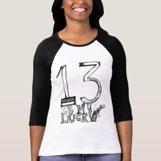 13 es mi camiseta afortunada del número