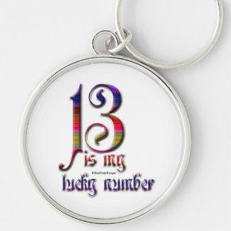 13 es mi Número-Color afortunado Llavero Personalizado