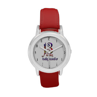 13 es mi Número-Coloridos afortunado Relojes De Pulsera