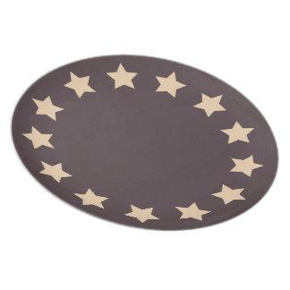 13 estrellas plato para fiesta