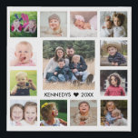 "13 Family Photo Collage Create Your Own Faux Canvas Print<br><div class=""desc"">Create your own photo collage  faux wrapped canvas print with 13 of your favorite pictures on a white background.Personalize with family name and established date.</div>"