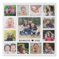 13 Family Photo Collage Create Your Own Faux Canvas Print