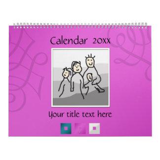13 fotos y textos personales 20XX Calendario