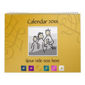 13 fotos y textos personales 20XX Calendario De Pared