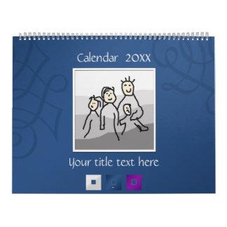 13 fotos y textos personales 20XX Calendarios De Pared