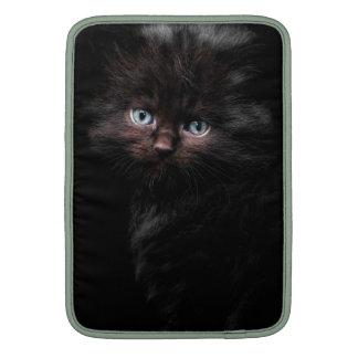 """13"""" gatito negro de las mangas de aire de Macbook Funda MacBook"""