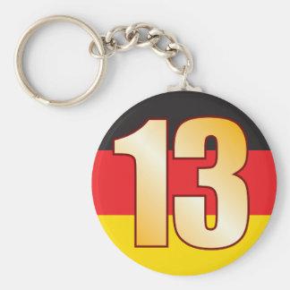 13 GERMANY Gold Keychain