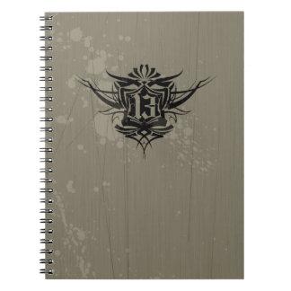""" 13 "" Gothic Tattoo Note Book"