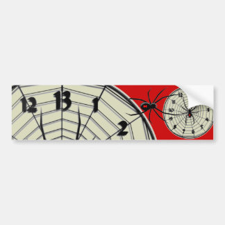 13 Hour Black Widow Clock in Frame Car Bumper Sticker