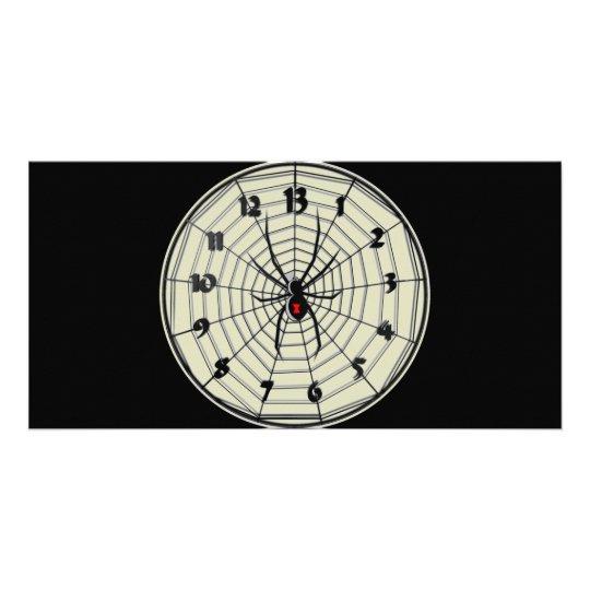 13 Hour Black Widow Clock in Frame Card