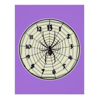 13 Hour Black Widow Clock in Frame Full Color Flyer