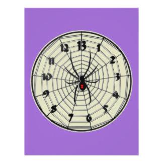 13 Hour Black Widow Clock in Frame Flyer
