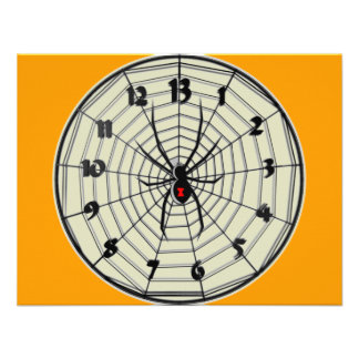 13 Hour Black Widow Clock in Frame Invites