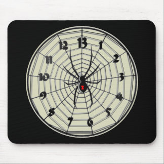 13 Hour Black Widow Clock in Frame Mouse Pad