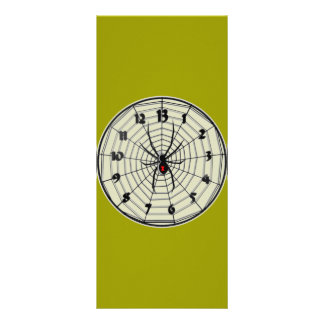 13 Hour Black Widow Clock in Frame Rack Card