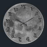 """13 Hour clock<br><div class=""""desc"""">Watch your friends try to tell the time on this clock! Cool ancient skull superimposed over a full moon...  A must have for any spooky household!</div>"""