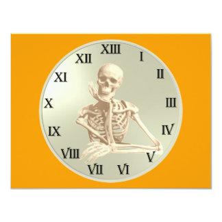 13 Hour Skeleton Clock Card