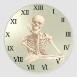 13 Hour Skull Clock Pattern Sticker