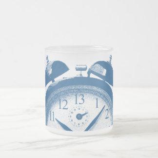 13 Hours Blue Frosted Glass Coffee Mug