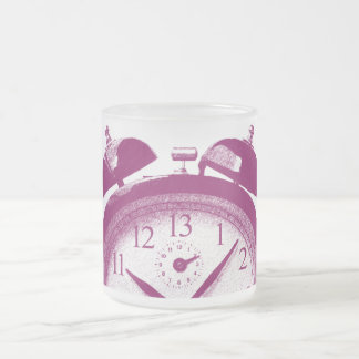 13 Hours red Frosted Glass Coffee Mug