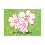 13 In Sympathy 5x7 Paper Invitation Card