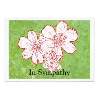 13 In Sympathy Personalized Announcement