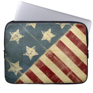 13 Inch Vintage American Flag Laptop Sleeve