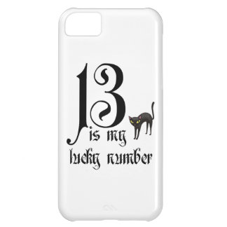 13 is my lucky number+black cat iPhone 5C cover