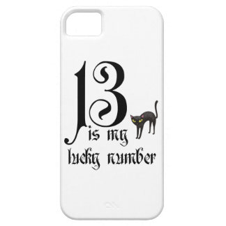 13 is my lucky number+black cat iPhone SE/5/5s case