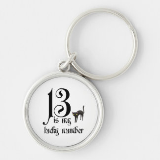 13 is my lucky number+black cat keychains