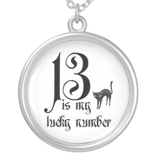 13 is my lucky number+black cat custom jewelry