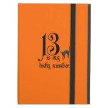 13 is my lucky number+black cat/orange iPad case
