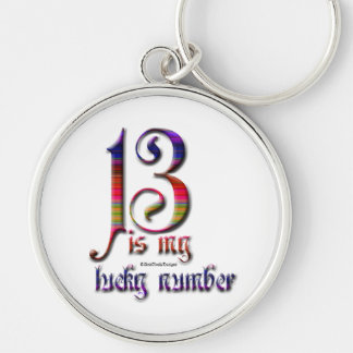 13 is my Lucky Number-Color Keychain