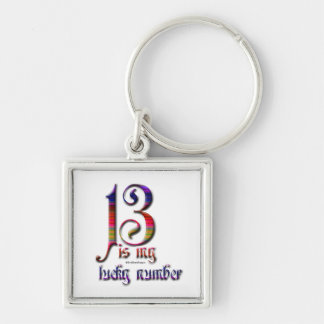 13 is my Lucky Number-Colorful Keychain