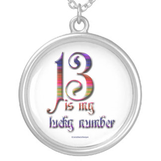 13 is my lucky number-colorful silver plated necklace
