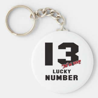 13 It's my lucky number Keychain
