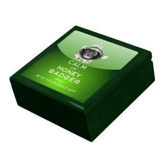 [13] Keep Calm or Honey Badger… Jewelry Box