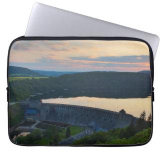 "13"" laptop bag Edersee concrete dam sunset"
