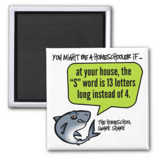 13 Letter Word 2 Inch Square Magnet