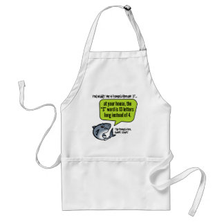 13 Letter Word Adult Apron