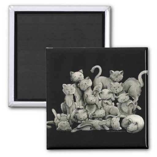 13 Lucky Black Cats Magnet