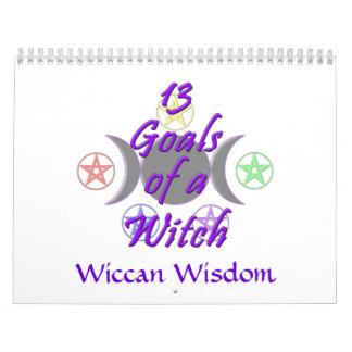 13 metas y calendario de la sabiduría de Wiccan