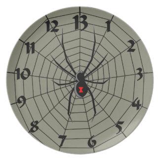 13 modelo del reloj de la araña de trece horas plato de cena